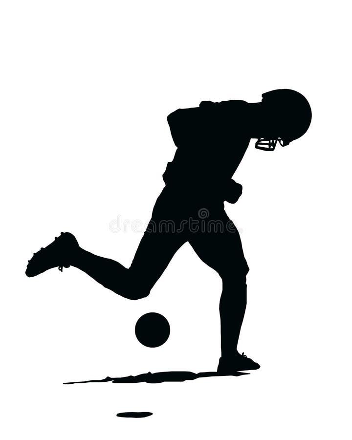 Pratica di gioco del calcio illustrazione vettoriale