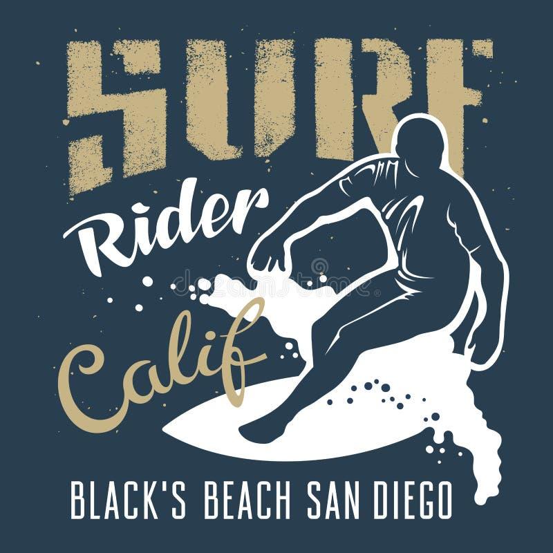 Praticare il surfing 021 illustrazione vettoriale