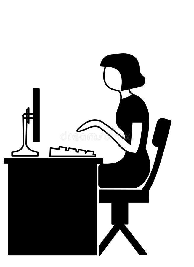 Praticare il surfing di Internet illustrazione vettoriale