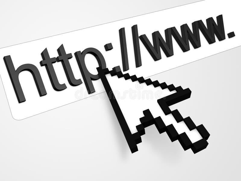 Praticare il surfing il concetto di Web royalty illustrazione gratis