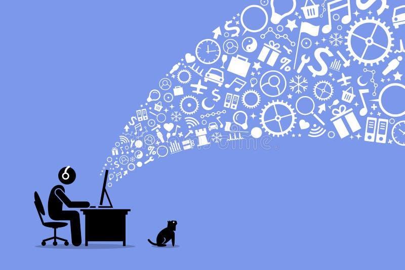 Praticare il surfing il Internet royalty illustrazione gratis