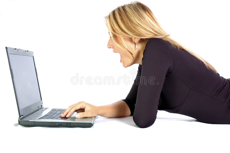 Praticare il surfing il Web immagine stock libera da diritti