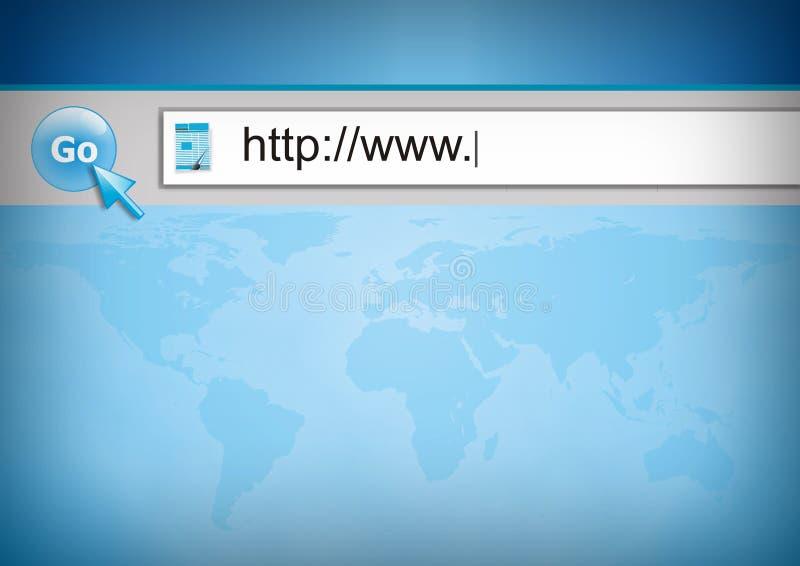 Praticare il surfing il WWW royalty illustrazione gratis