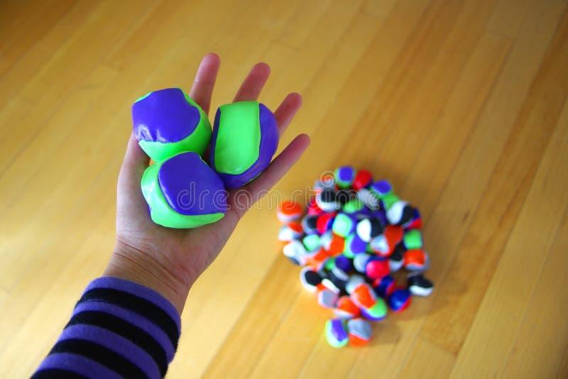 Pratique de jonglerie image libre de droits