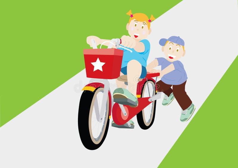 Pratique en matière de bicyclette illustration libre de droits
