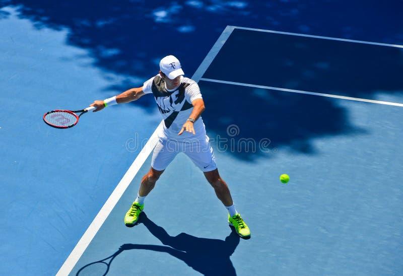 Pratique en matière de Roger Federer photos stock
