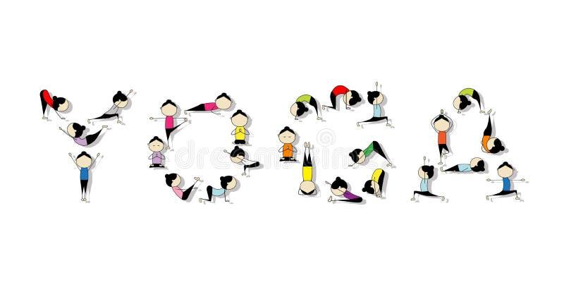Pratique en matière de yoga, concept pour votre conception illustration de vecteur