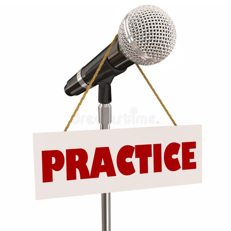 Pratique o ensaio 3d Illus do orador da apresentação do microfone do sinal ilustração royalty free