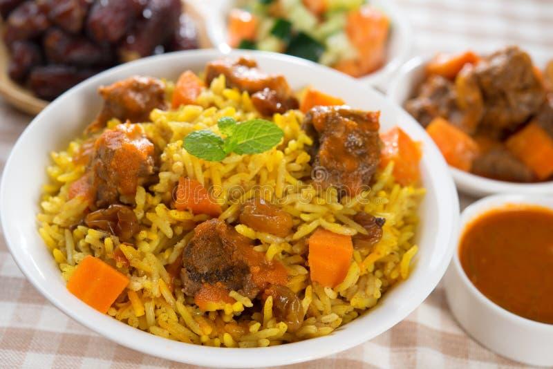 Prato árabe imagens de stock