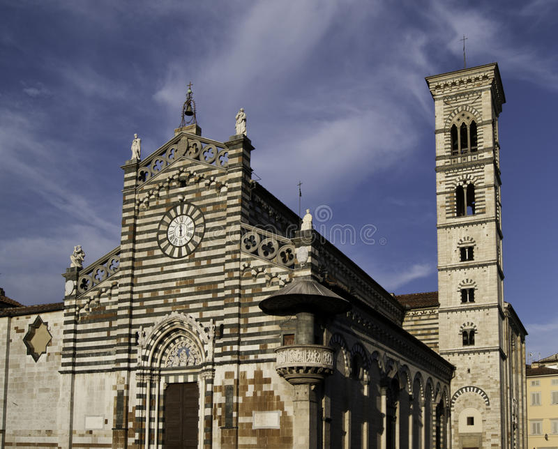 Prato Cathedral and tower bell royalty free stock photo