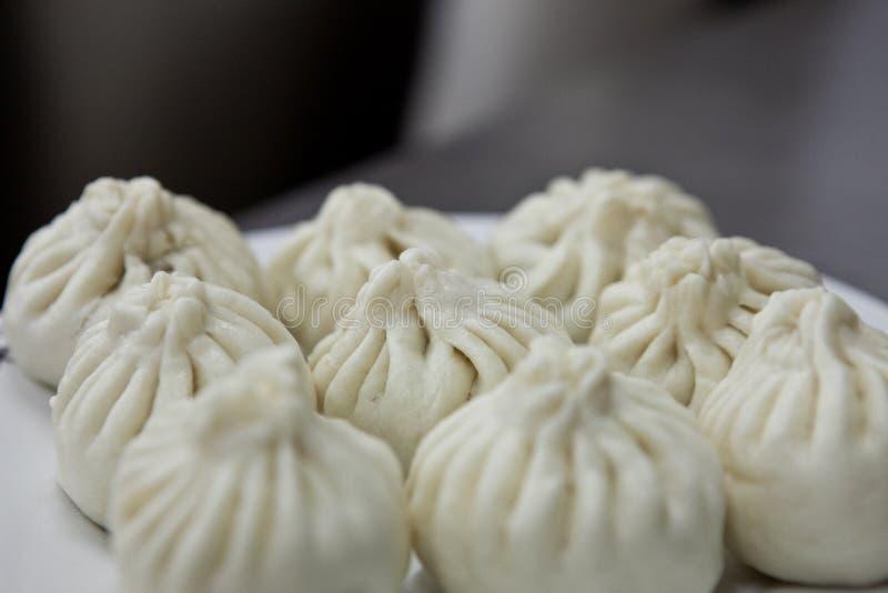 Prato chinês - Baozi fotografia de stock