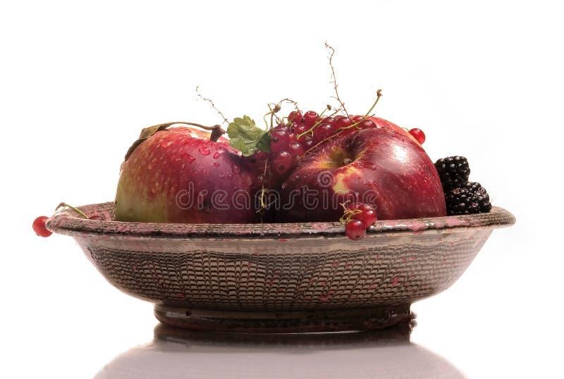 Prato com frutas fotografia de stock