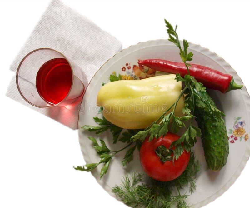 Prato com vegetais fotos de stock