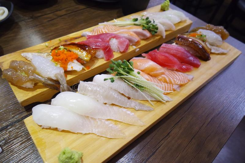 Prato, culin?ria, alimento, Sashimi imagem de stock