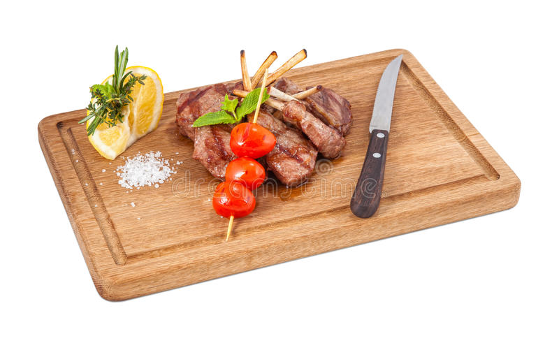 Prato da carne fotografia de stock