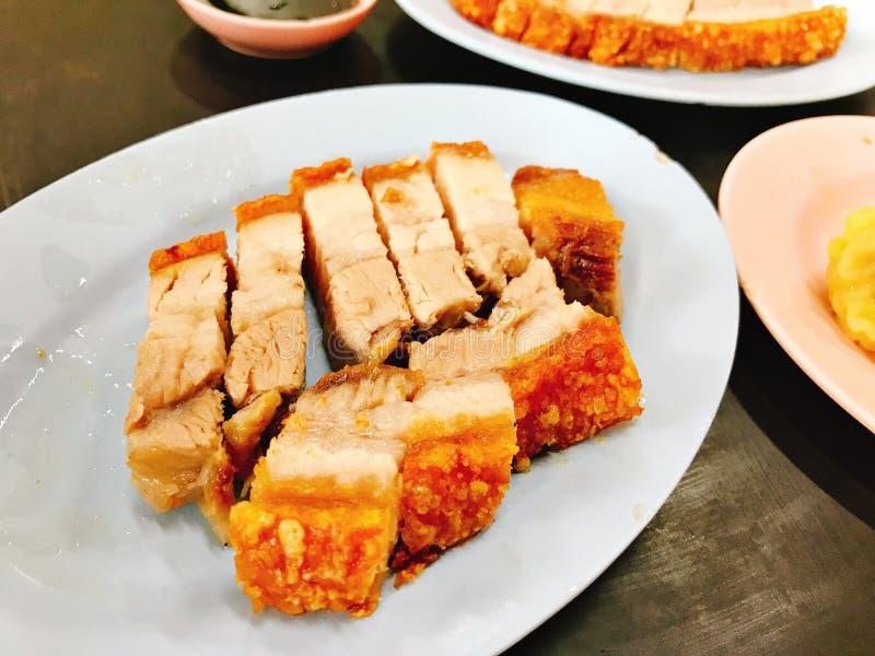 Prato da carne de porco friável saboroso imagem de stock royalty free