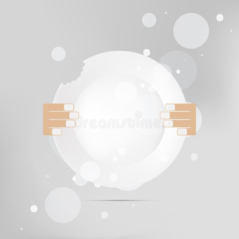 Prato da placa Coma o ícone do sinal ilustração royalty free