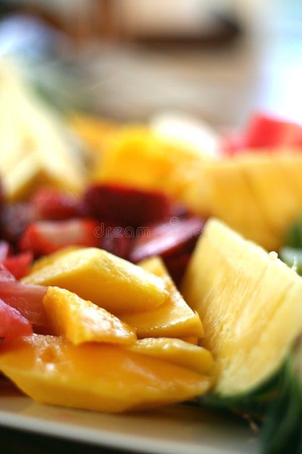 Prato de fruta fotos de stock