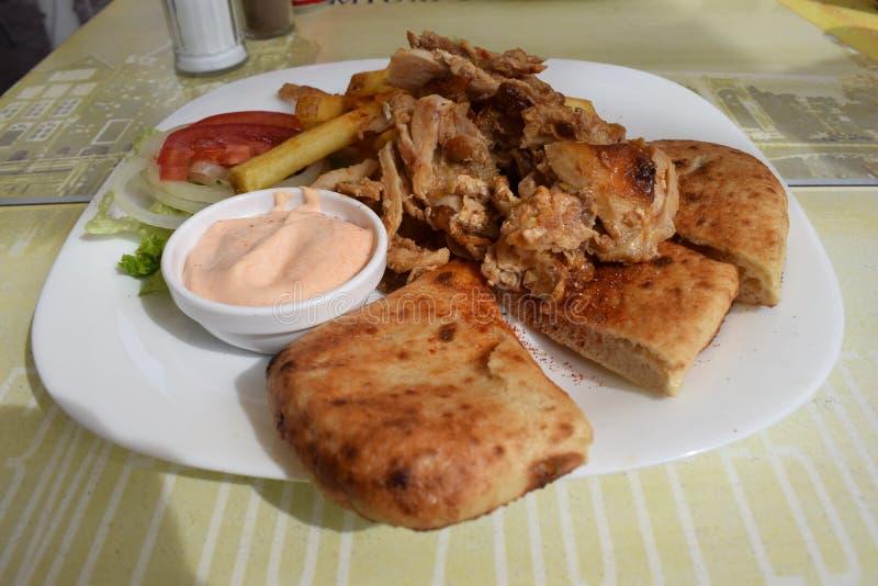 Prato de galinha imagens de stock