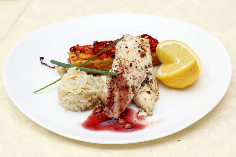Prato de peixes imagem de stock