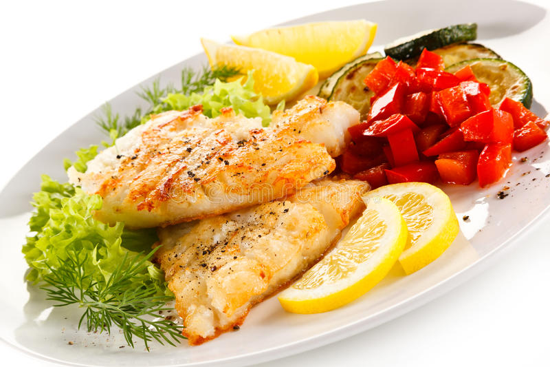 Prato de peixes imagens de stock