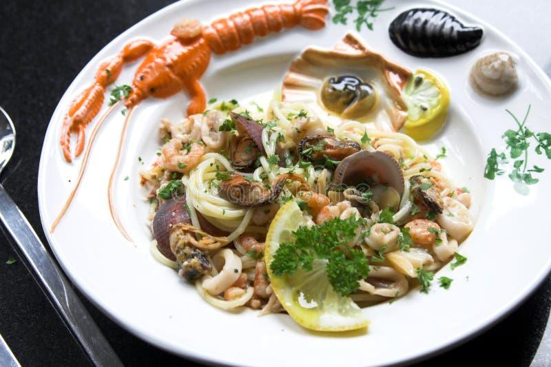 Prato delicioso do marisco fotografia de stock royalty free