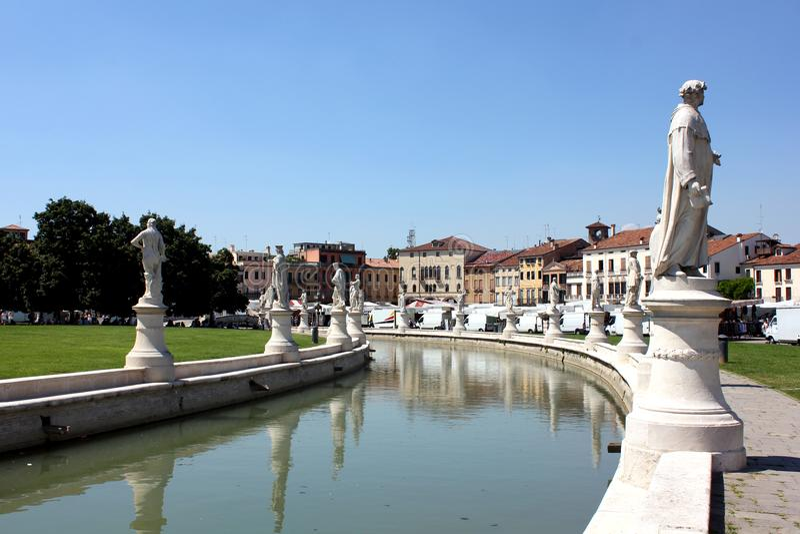 Prato della Valle, Padova stock photo