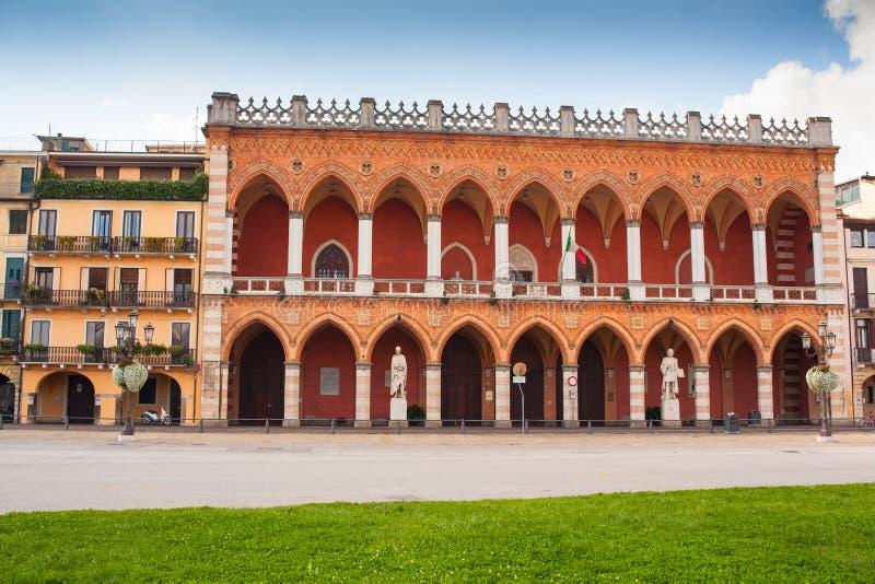 Prato della Valle, Padova. View of Prato della Valle square, Padova royalty free stock photography