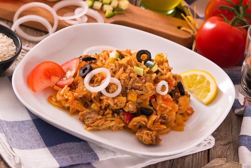 Prato do arroz dos girosc?pios foto de stock royalty free