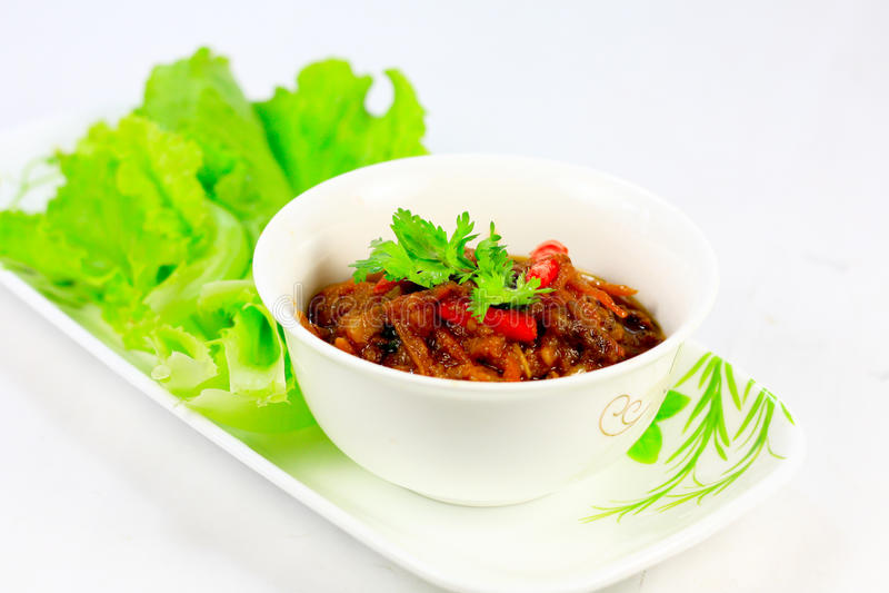 Prato do asian do caril do tomate foto de stock