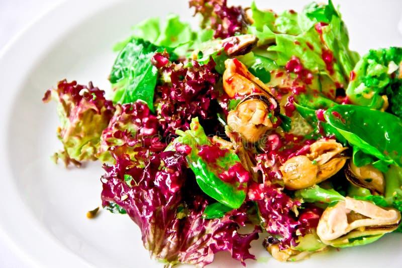 Prato do restaurante, salada extravagante foto de stock