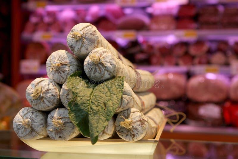 Prato do salame italiano imagem de stock royalty free