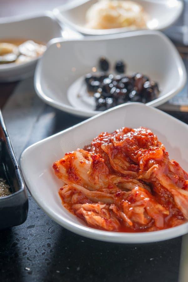 Prato do vegetariano de Kimchi do coreano fotos de stock royalty free