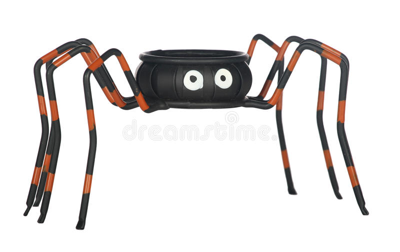 Prato dos doces da aranha de Halloween fotografia de stock royalty free