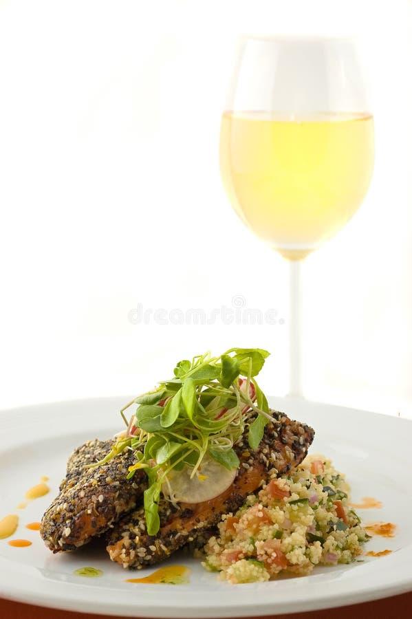 Prato dos salmões do gourmet. imagem de stock