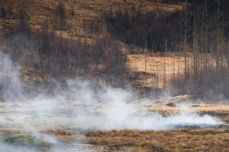 Prato geotermico in Islanda fotografie stock libere da diritti
