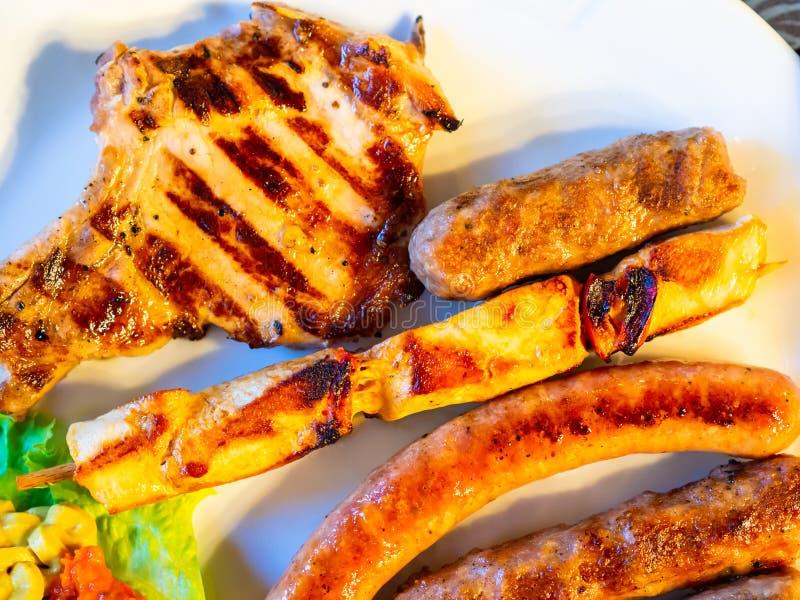 Prato grelhado da carne fotos de stock