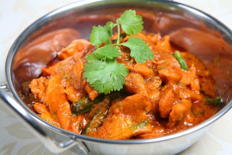 Prato indiano de Balti do alimento do caril fotos de stock royalty free