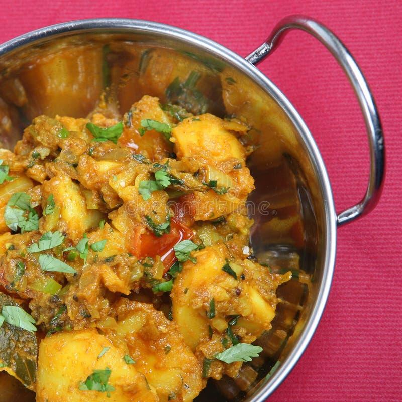 Prato indiano do caril fotografia de stock