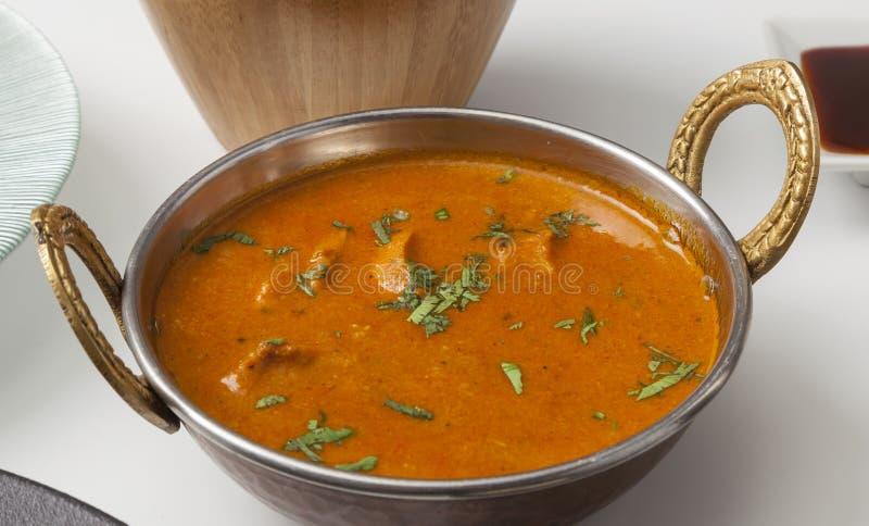 Prato indiano do caril do alimento foto de stock
