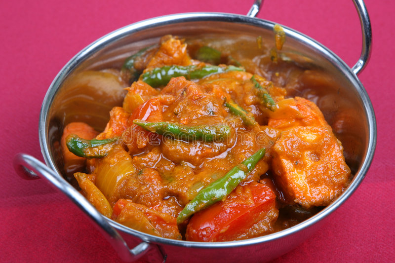 Prato indiano do caril da galinha fotos de stock