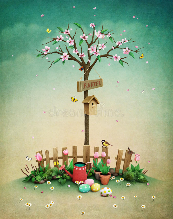 Prato inglese della primavera illustrazione vettoriale