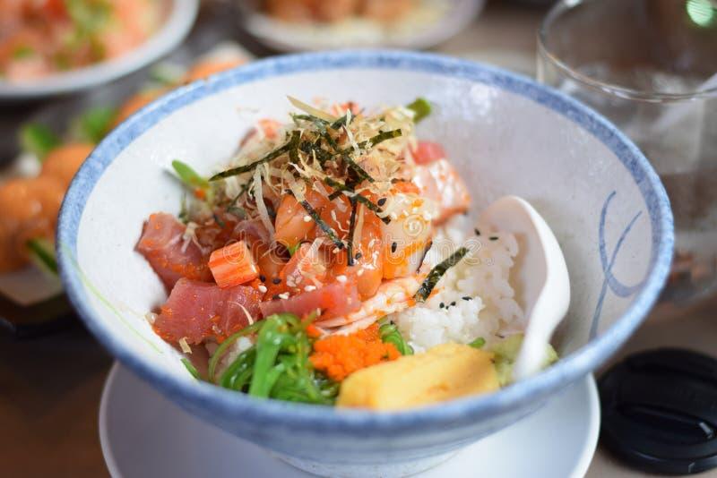Prato japonês do marisco fotos de stock