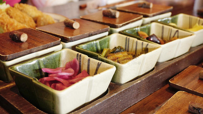 Prato lateral tradicional na cultura japonesa imagem de stock