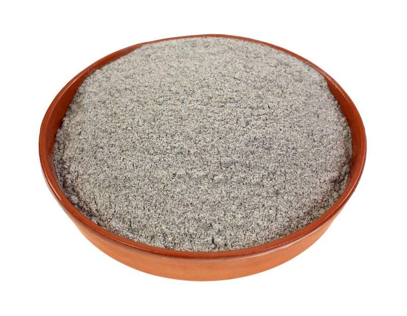 Prato orgânico da farinha do trigo mourisco imagem de stock royalty free