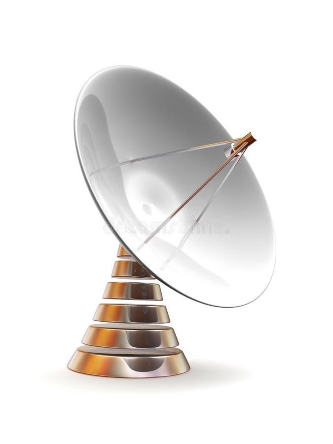 Prato satélite ilustração royalty free