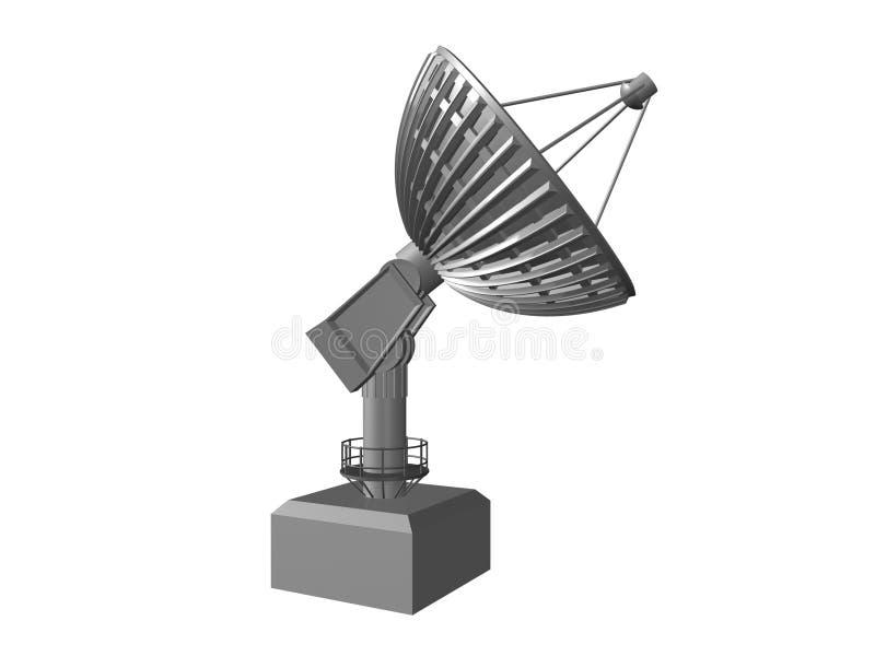 Prato satélite no fundo branco 3 ilustração do vetor