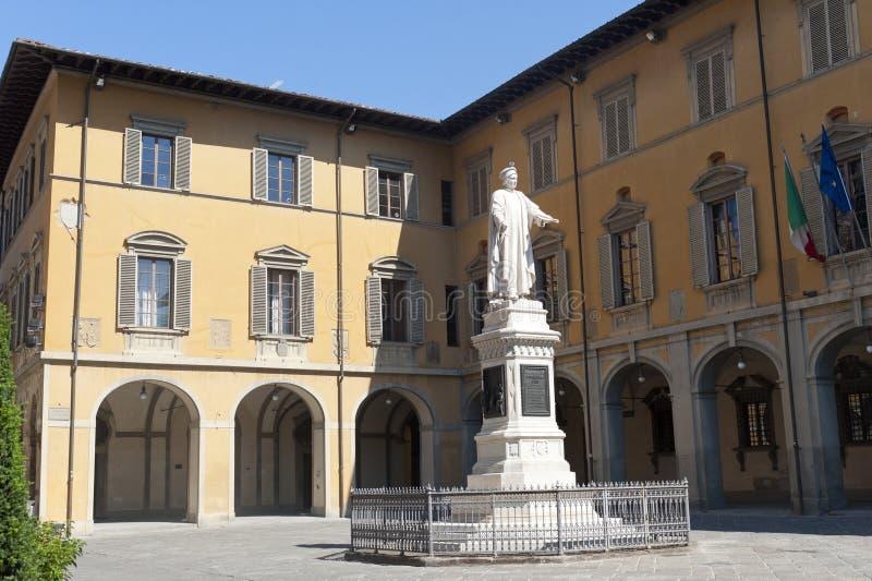 Prato (Toscanië), historisch vierkant royalty-vrije stock afbeeldingen