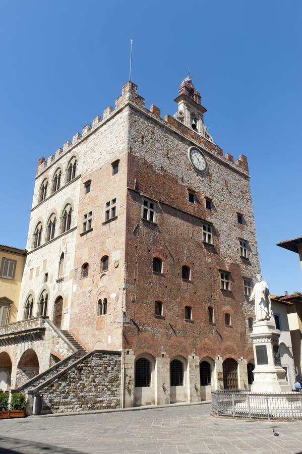 Prato (Toscanië), Palazzo Pretorio stock fotografie
