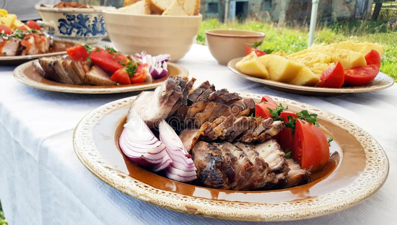 Prato tradicional do alimento de Transylvanian imagens de stock royalty free